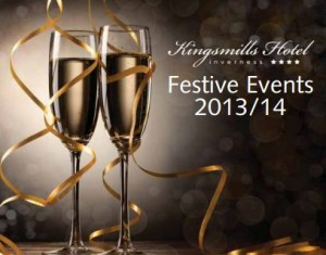 luxury hotel inverness, festive breaks scotland, christmas in Inverness, hogmanay scotland, festive brochure, party night scotland