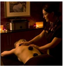Hot stone full body massage treatment, Kingsmills Hotel, Inverness, luxury spa Scotland