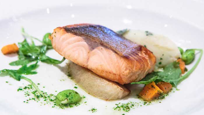 Salmon dish at the Kingsmills Hotel